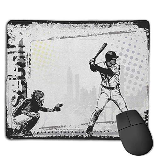 Gaming Mouse Mat, Baseball Player Drucken Gaming Mouse Mat Genähte Kante Büro Dicker Mauspad