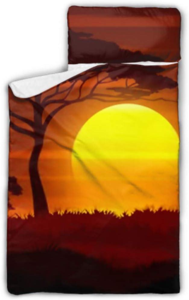 HJSHG Kids Sleeping Bag Now mart free shipping Sunset Africa I Landscape Savanna Vector