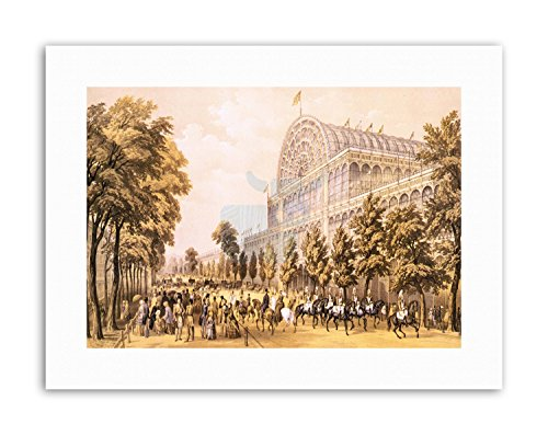 Wee Blue Coo LTD Crystal Palace Glass Great Victorian London Poster Painting Exhibition Canvas