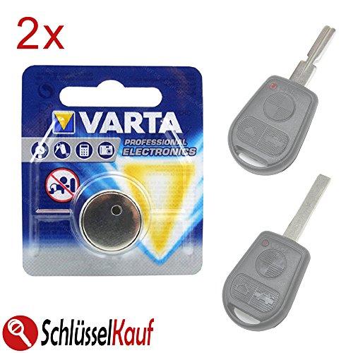2X Knopfzellen Schlüssel Batterie passend für BMW E36 E38 E39 E46 Z3 Autoschlüssel