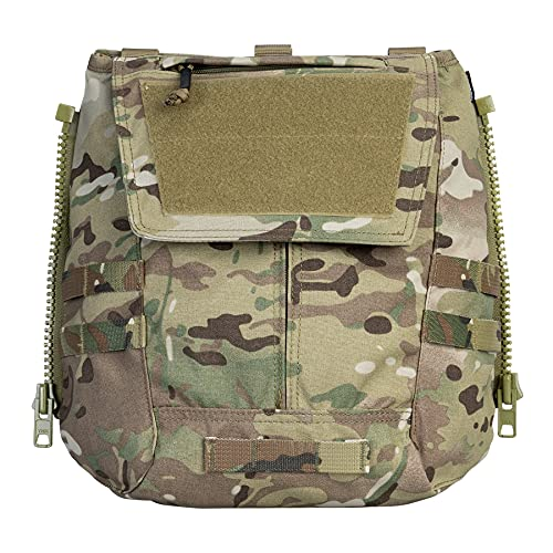 IDOGEAR Tactical Zip-on Panel Pouch Military Backpack Vest Accessory Bag for CPC AVS JPC2.0(A:Multicam)