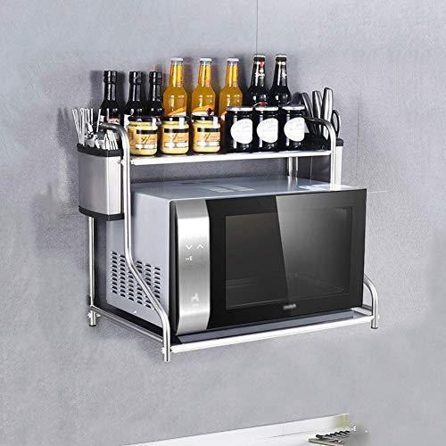 Home Fashion eenvoud keuken plank houder roestvrij staal planken Spice Cooker plank muur gemonteerd magnetron oven beugel, C-F