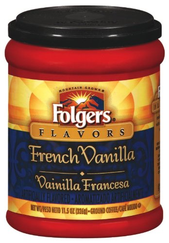 Folgers Coffee Ground Flavors Canister Vanilla, 11.5-Ounce Packages (Pack of 12)