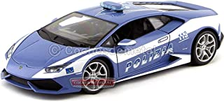 Bburago 2014 Lamborghini Huracan Polizia LP610-4 Azul-Blanco 1:18 11041