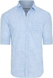 Connor Men's Clancy Casual Slim Shirt Long Sleeve Slim Tops Sizes XS-3XL Affordable Quality with Great Value