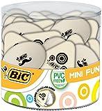 BIC Mini Fun Gomas de Borrar - colores Surtidos, Bote de 36 unidades