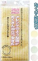 泡立つメレンゲタオル(24×100cm) 【まとめ買い12個セット】 40-628