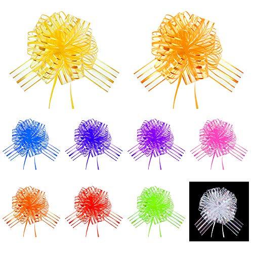 UBERMing 10 Stück Geschenk Schleife Große Schleife für Geschenke Tüten Zuckertüten Weihnachten Valentines Geschenkverpackung -Mischfarbe