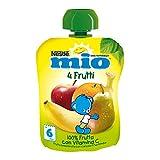 Nestlé Mio Frutta Grattugiata da Spremere 4 Frutti 100% Frutta senza Glutine da 6 Mesi - ...