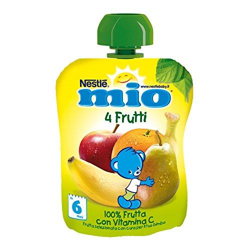 Nestlé Mio Frutta Grattugiata da Spremere, 4 Frutti, 90g