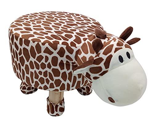 1a-Handelsagentur Kinder Hocker Dino Löwe Elefant Giraffe Sitzhocker Dekohocker Schemel Holzhocker, Variante:Giraffe