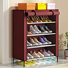 Sasimo 4 Shelves Shoe Cabinet/Shoes Rack/Shoes Rack for Home./Shoes Stand for Home (Maroon.)
