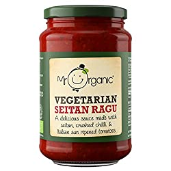 Vegan, Organic and Delicious! High Protein (enriched with seitan) Made from rich and sumptuous Italian sun-ripened tomatoes. 2 - 4 servings per jar, depending on how saucy you like it! Part of our HIGH PROTEIN 'Veg A'more' range