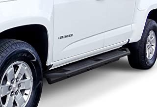 APS iArmor Aluminum Side Steps Armor Custom Fit 2015-2020 Chevy Colorado GMC Canyon Crew Cab Pickup 4-Door (Nerf Bars Side Steps Side Bars)
