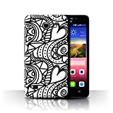Phone Case for Huawei Ascend Y550 LTE Black Fashion Heart