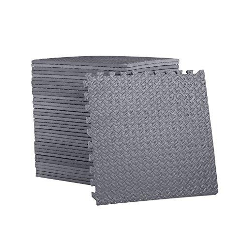 """CAP Barbell 3/4"""" Cap Puzzle Exercise Mat with EVA Foam Interlocking Tiles, 6 Pack, 144 sq. ft."""