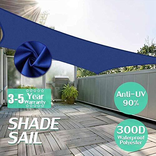 LIMMC 300D 160gsm zonnezeil waterdichte UV-tuin binnenplaats luifel overkapping tent zonwering shelter rechthoekige rechthoek 2x3, China