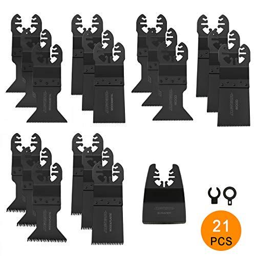 20Pcs 44mm Acier /à haute teneur en carbone Oscillant Multi Tool Lames de scie /à dents longues pour Bosch Dremel Fein Outils oscillants /électriques Lames de scie oscillante