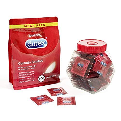 Durex Durex comfortcontact condoom dun met hoge gevoeligheid 100 Unità (Confezione da 1)