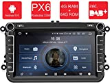 M.I.C.® AV8V5-Pro Android 9 Autoradio Radio Navigationssystem:DAB+ digitalradio Bluetooth 5.0 WLAN 8 Zoll IPS Bildschirm 4G+64G USB sd GPS Tuning für VW Skoda SEAT Polo Golf Passat touran t5 Octavia