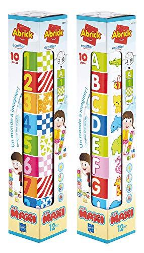 Jouets Ecoiffier -7811 - La tour Abrick Maxi – Jeu de construction pour enfants – Dès 12 mois – Fabriqué en France