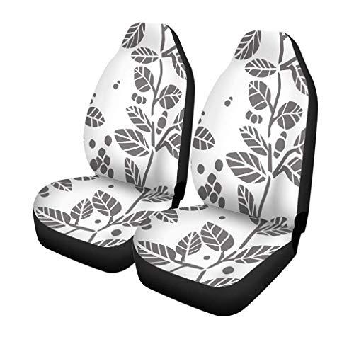 Little Yi Autositzbezüge Blattblätter Abbildung Muster Abstraktes Buch Zweig Zeichnung Eleganz Universal Auto Front Seats Protector