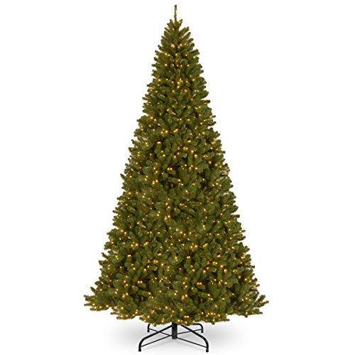 National Tree Company Pre-lit Artificial Christmas Tree | Includes Pre-strung White Lights and Stand | North Valley Spruce - 16 ft