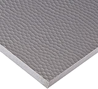 "Designboard High Density Polyethylene Sheet, Hammered Finish, 1/2"" Thick, 12"" Length x 12"" Width, Stainless Steel"