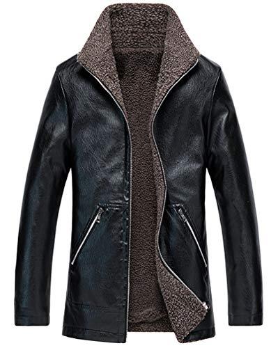 Men's Long Leather Jacket