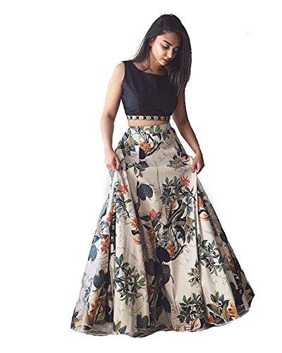 AMIT FASHIONS Indischer Designer Lehenga Choli für Damen Gr. Einheitsgröße, mehrfarbig