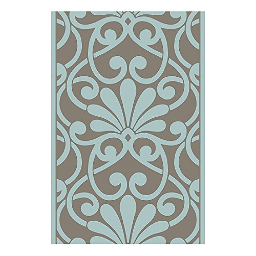 Livingwalls 942181 Pop.Up Panel Funny Ornament, zelfklevend paneel, turquoise, bruin