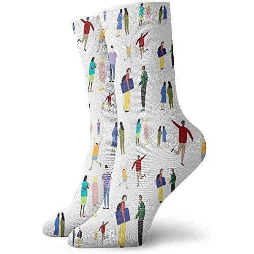 Kevin-Shop Warp Paper Pattern Copy Calcetines Tobilleros Calcetines Casuales y acogedores para Hombres, Mujeres, niños