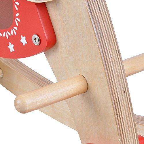 Schaukelpferd Holz (Naturel) - 4