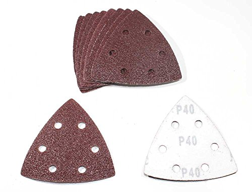 180 Blatt Klett Schleifdreiecke Delta 93x93x93mm 6-Loch Körnung gemischt je 30 Blatt K40/K60/K80/K120/K180/K240