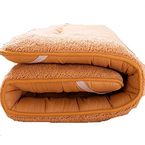 Matrassen Roll-Up Vloer Matrasgast Bed Auto Matrasslaapkussen Voor Camping Bedden (Bruin)