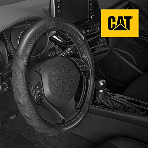 Caterpillar Two Tone Carbon Fiber Grip Steering Wheel Cover – Strong, Durable...