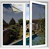 TTMOW Film Miroir Fenêtre Sans Tain,99% Anti UV Anti Chaleur Anti-Regard Contrôle De La Température Protection De La Vie Privée Pour Maison Bureau Magasin
