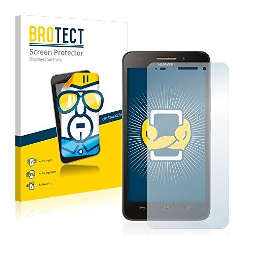BROTECT Schutzfolie kompatibel mit Huawei Ascend G620s (2 Stück) klare Bildschirmschutz-Folie