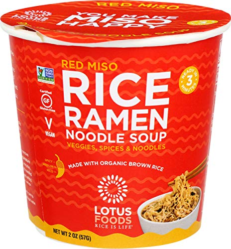 Lotus Foods - Miso di riso rosso Ramen Noodle Soup Cup - 2 Once
