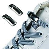 Cordones magnéticos elásticos de 2 piezas sin corbata, ayudante de zapatos perezoso, clips de encaje para zapatillas de deporte para niños, adultos, ancianos