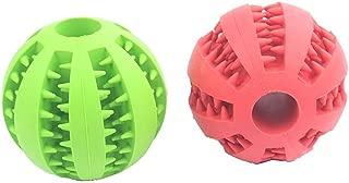 naranja, verde y rojo WINOMO couineur pelota perro Animal de compa/ñ/ía juguete 3pcs