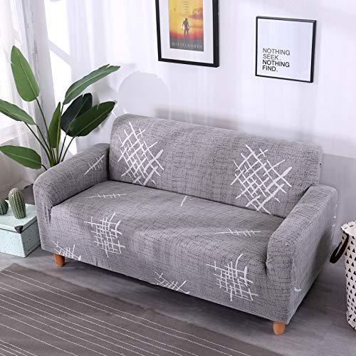 Funda de sofá elástica elástica con Estampado Floral, Toalla de sofá de algodón, Fundas de sofá Antideslizantes para Sala de Estar A9 de 4 plazas