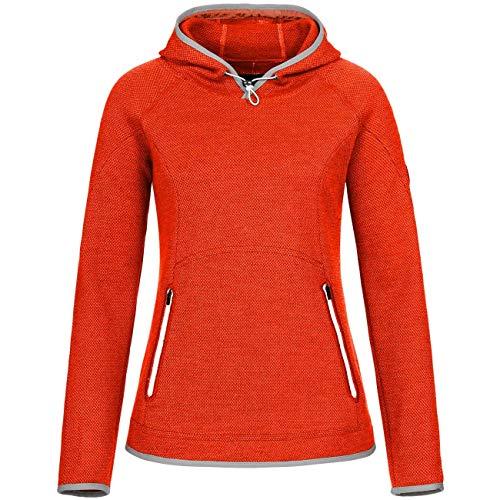GIESSWEIN Merino Pullover Sonja - Leichter Sweater mit Kapuze für Damen, Hoodie aus 100% Merinowolle, Sportbekleidung für Frauen, atmungsaktiv und geruchsneutralisierend