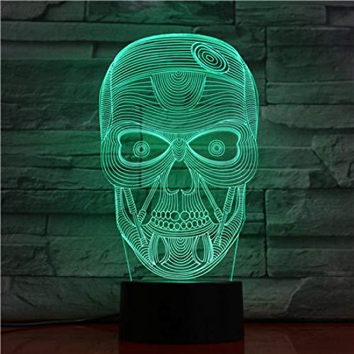 TYWFIOAV Novedad 3D LED ilusión de luz Luminosa Cabeza de Instrumento USB lámpara de Mesa táctil RGB 7 Colores Cambiador de Mesa luz de Noche decoración de Noche