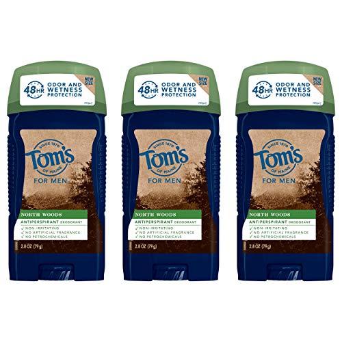 Tom's of Maine Antiperspirant Deodorant for Men, North Woods, 2.8 oz. 3-Pack