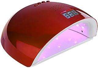 ZMEI Uñas Rojo Luz 60W Sun 7A De La Lámpara LED De Energía Dual Nails Secador De Aire Secadores De Curado UV Gel Esmalte De Uñas Manicura del Arte Auto De La Herramienta De Inducción,Rojo