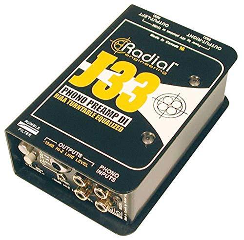 Radial Engineering J33 RIAA Turntable Preamp Direct Box