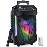 Modernista Sound Box 600 Bluetooth Party Speaker 60W with Remote,Wireless Karaoke Mic/Eco Control/FM/Aux/LED Lights/Portable Outdoor Speaker
