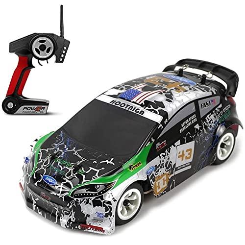 Nsddm Coche de carreras de deriva de alta velocidad de 30km / h, 1/28 Scale RC Car, 2.4g Radio Control Buggy, vehículo todoterreno de 4WD con chasis de aleación, camión de rc amateur adulto, juguete a