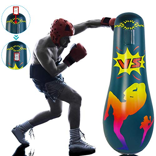 Gojiny Boxsack, aufblasbarer Boxsack für Erwachsene, freistehend, zum Stressabbau